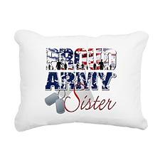 ProudArmySister Rectangular Canvas Pillow
