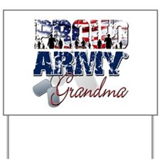 ProudArmyGrandma Yard Sign