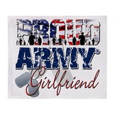 ProudArmyGirlfriend Throw Blanket
