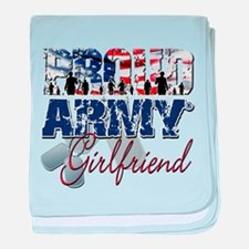 ProudArmyGirlfriend baby blanket