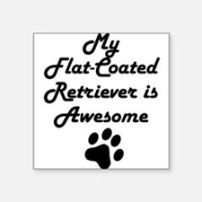 My Flat-Coated Retriever Is Awesome Sticker