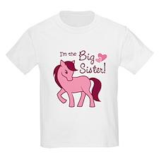 Big Sister - Pink Pony T-Shirt