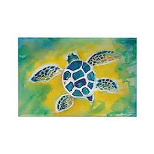 Baby Sea Turtle Hi Rectangle Magnet