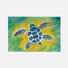 Baby Sea Turtle Hi Rectangle Magnet