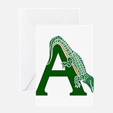 A......alligator Greeting Card