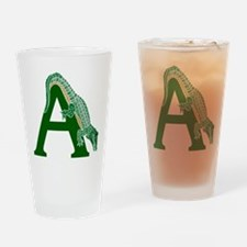 A......alligator Drinking Glass