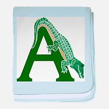 A......alligator baby blanket
