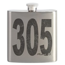 Distressed Miami 305 Flask