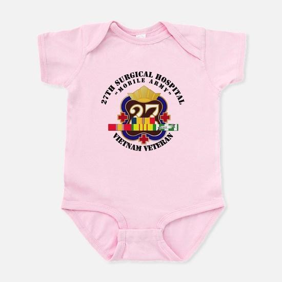 Army - 27th Surgical Hospital w SV Infant Bodysuit