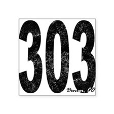 Distressed Denver 303 Sticker