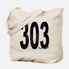 Distressed Denver 303 Tote Bag