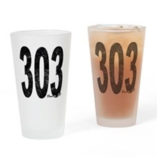 Distressed Denver 303 Drinking Glass