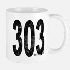 Distressed Denver 303 Mugs