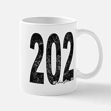 Distressed Washington DC 202 Mugs