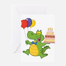 BIRTHDAY GATOR Greeting Cards