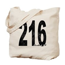 Distressed Cleveland 216 Tote Bag