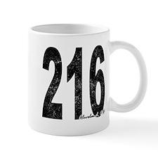Distressed Cleveland 216 Mugs