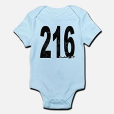 Distressed Cleveland 216 Body Suit