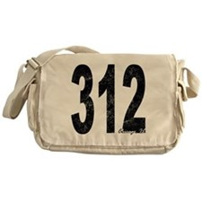 Distressed Chicago 312 Messenger Bag