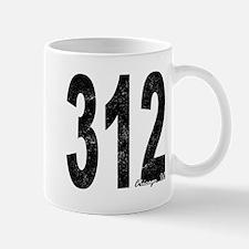 Distressed Chicago 312 Mugs