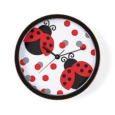 LADYBUG DUO Wall Clock