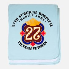 Army - 27th Surgical Hospital NO SVC baby blanket