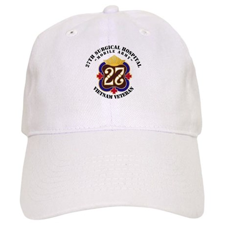 Army - 27th Surgical Hospital NO SVC Ribbon - Cap