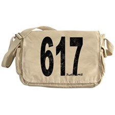 Distressed Boston 617 Messenger Bag