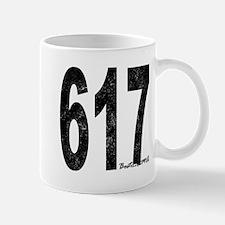 Distressed Boston 617 Mugs