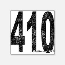 Distressed Baltimore 410 Sticker