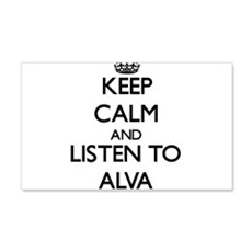 Keep Calm and Listen to Alva Wall Decal