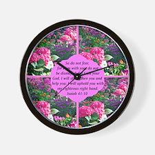 ISAIAH 41:10 Wall Clock
