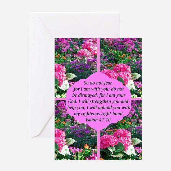 ISAIAH 41:10 Greeting Card