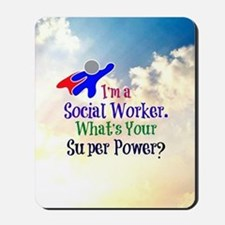 Social Worker Superhero Mousepad
