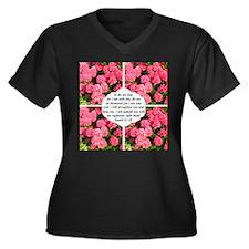 ISAIAH 41:10 Women's Plus Size V-Neck Dark T-Shirt
