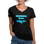 Make That Face... Women's V-Neck Dark T-Shirt