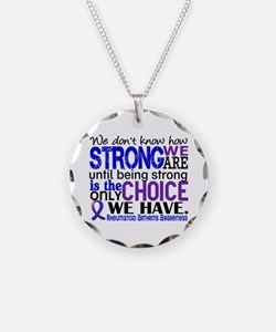 RA How Strong We Are Necklace Circle Charm
