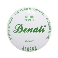 Denali National Park, Alaska Ornament (Round)