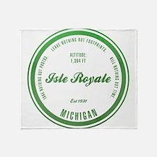 Isle Royale National Park, Michigan Throw Blanket