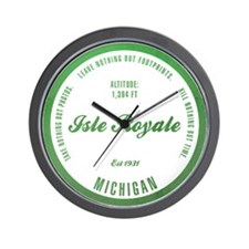 Isle Royale National Park, Michigan Wall Clock