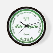 Isle Royale National Park, Michigan Wall Clock