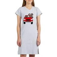 Elephants in Car Women's Nightshirt