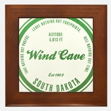 Wind Cave National Park, South Dakota Framed Tile