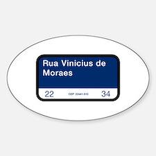 Rua Vinicius de Moraes, Rio (BR) Oval Bumper Stickers