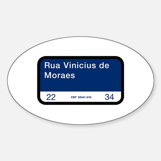 Rua Vinicius de Moraes, Rio (BR) Oval Decal