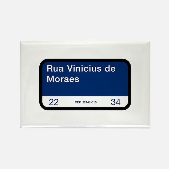 Rua Vinicius de Moraes, Rio (BR) Rectangle Magnet