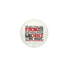 Brain Tumor How Strong We Ar Mini Button (10 pack)