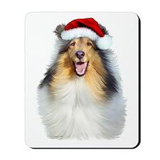 Santa Collie Mousepad