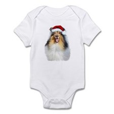 Santa Collie Infant Bodysuit