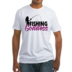 Fishing Goddess Fitted T-Shirt